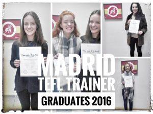 TEFL Trainer's Certificate TEFL Graduates 2016