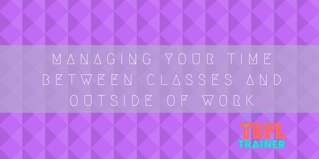 How should you manage your time between classes and outside of work to improve your energy levels?